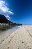 Spiaggia delle palle in Creta ad ovest, Grecia immagine stock