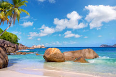 spiaggia delle Seychelles Immagine Stock