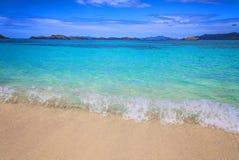 Spiaggia dello zaffiro sull'isola di St Thomas fotografia stock