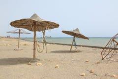 Spiaggia di abbandono, Marsa Alam, Egitto fotografia stock libera da diritti