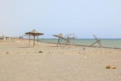 Spiaggia di abbandono, Marsa Alam, Egitto immagine stock