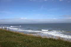 Spiaggia di Aberdeen, Scozia, Regno Unito immagini stock libere da diritti