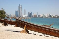 Spiaggia di Abu Dhabi Immagine Stock