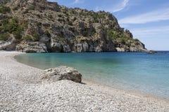 Spiaggia di Achata sull'isola di Karpathos, Grecia Fotografia Stock