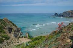 Spiaggia di Adegas della Praia vicino a Carrapateira, Portogallo Fotografia Stock Libera da Diritti