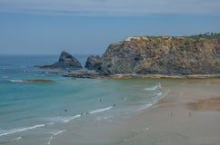 Spiaggia di Adegas della Praia vicino a Carrapateira, Portogallo Fotografia Stock