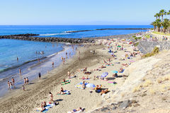 Spiaggia di Adeje in Tenerife Immagini Stock