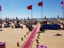 Spiaggia di Agadir, Marocco Fotografie Stock