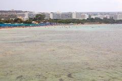 Spiaggia di Agia Napa Immagini Stock