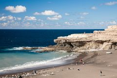 Spiaggia di Ajuy, Fuerteventura Immagini Stock