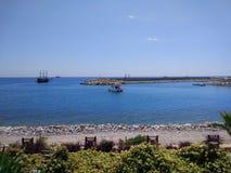 Spiaggia di Alanya Immagini Stock Libere da Diritti