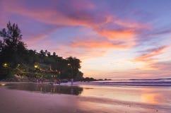Spiaggia di alba Immagine Stock