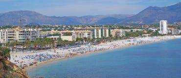 Spiaggia di Albir Immagine Stock