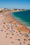 Spiaggia di Albufeira in Algarve Fotografia Stock Libera da Diritti