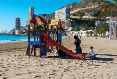 Spiaggia di Albufereta Immagine Stock