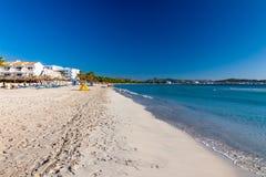 Spiaggia di Alcudia Fotografia Stock Libera da Diritti