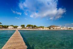 Spiaggia di Alcudia Immagini Stock Libere da Diritti