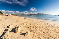 Spiaggia di Alcudia Immagine Stock Libera da Diritti