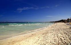 Spiaggia di Alcudia scenica Fotografia Stock