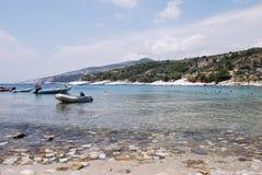 Spiaggia di Aliki in Thassos Fotografia Stock