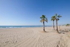 Spiaggia di Almadraba in Benicassim Fotografie Stock Libere da Diritti