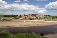 Spiaggia di Alnmouth Immagine Stock