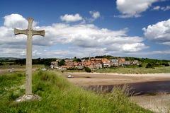 Spiaggia di Alnmouth Fotografia Stock Libera da Diritti