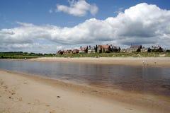 Spiaggia di Alnmouth Fotografia Stock