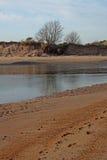 Spiaggia di Alnmouth, di primo mattino e baia Immagini Stock