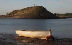 Spiaggia di Alnmouth, di primo mattino e baia Fotografie Stock Libere da Diritti