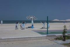 Spiaggia di alta tecnologia Fotografia Stock Libera da Diritti