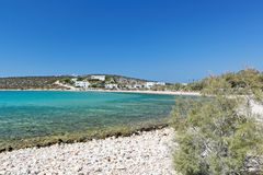 Spiaggia di Alyki in Paros, Grecia Immagini Stock