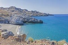 Spiaggia di Ammoudi, Creta del sud Fotografie Stock Libere da Diritti
