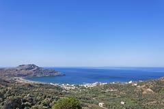 Spiaggia di Ammoudi, Creta del sud Fotografia Stock