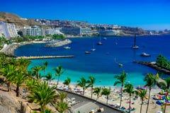 Spiaggia di Anfi Del Mar immagini stock libere da diritti