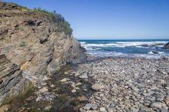 Spiaggia di Angra in Almograve Fotografia Stock Libera da Diritti