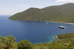 Spiaggia di Antisamos in Grecia Fotografie Stock