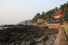 Spiaggia di Arambol, Goa Immagini Stock Libere da Diritti
