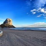 Spiaggia di Arenal - Calpe, Spagna Immagini Stock