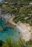 Spiaggia di Argentario, Italia Immagini Stock Libere da Diritti