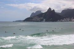Spiaggia di Arpoador in Rio de Janeiro Fotografia Stock