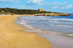 Spiaggia di Arrabassada a Tarragona, Spagna Fotografie Stock Libere da Diritti