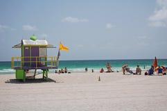 Spiaggia di art deco del bagnino Fotografia Stock
