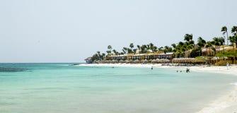 Spiaggia di Aruba Fotografia Stock