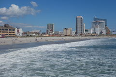 Spiaggia di Atlantic City Immagine Stock