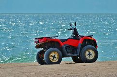 Spiaggia di ATV Immagine Stock