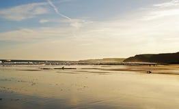 Spiaggia di autunno Immagini Stock Libere da Diritti
