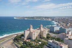 spiaggia di Avana Malecon Immagini Stock