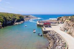 Spiaggia di Baia de Oporto Covo fotografie stock libere da diritti
