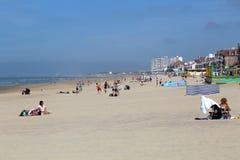 Spiaggia di Bains dei les di Malo a Dunkerque, Francia Fotografia Stock Libera da Diritti